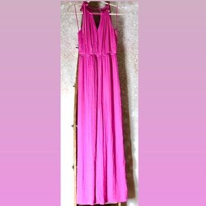 Jennifer Lopez Hot Pink Maxi Dress